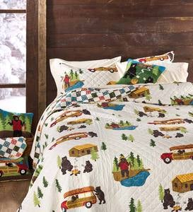 Reversible Big Bear Lake Quilt Set