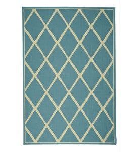 "Lattice Surry Rug, 6'7""x 9'6"" - Dark Blue"