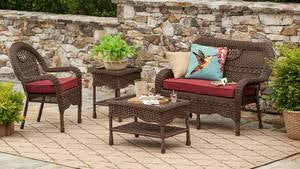 Prospect Hill Wicker Settee, Chair and Coffee Table Set