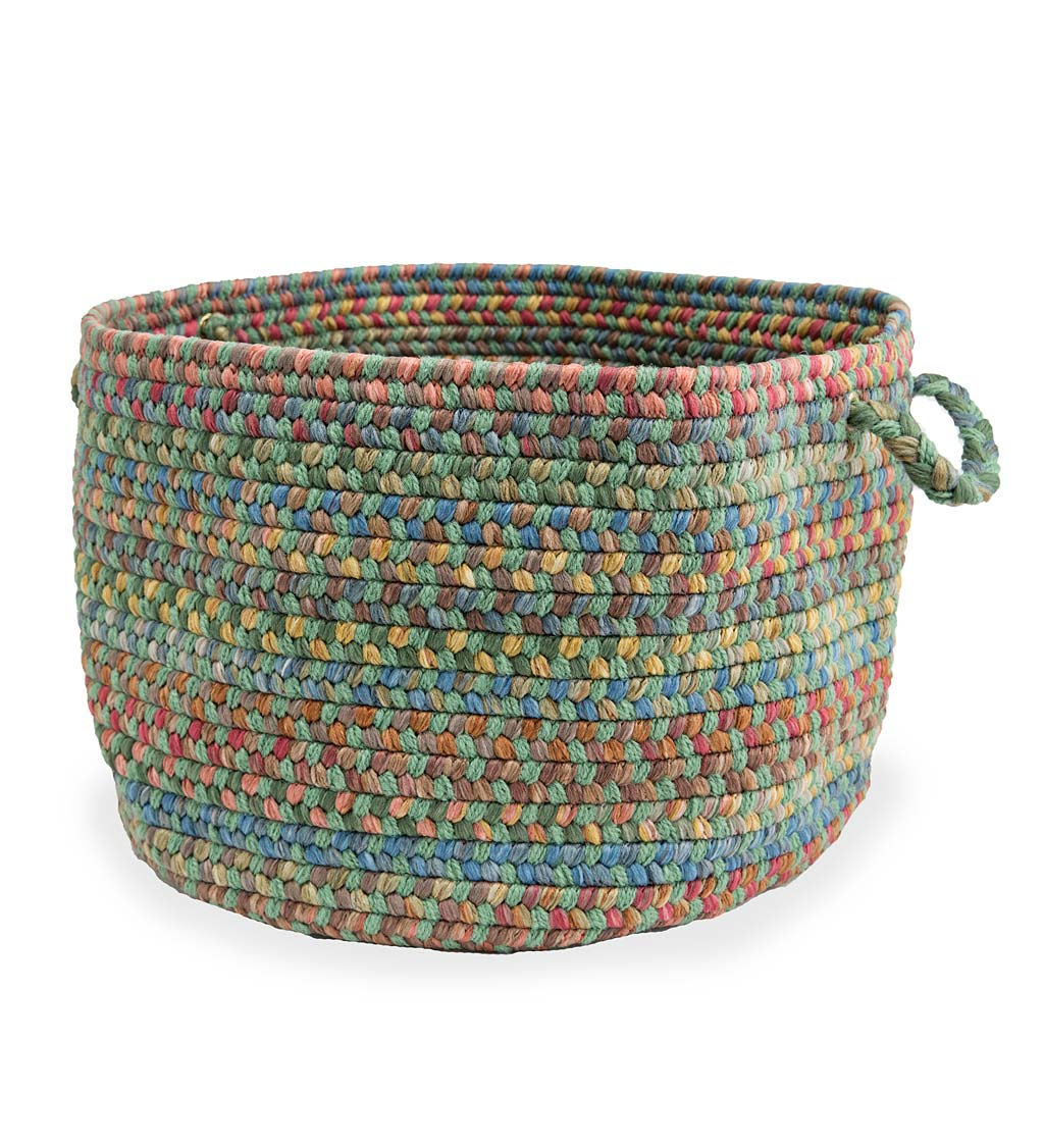 Afton Mountain Indoor/Outdoor Polypropylene Braided Basket with Handles swatch image