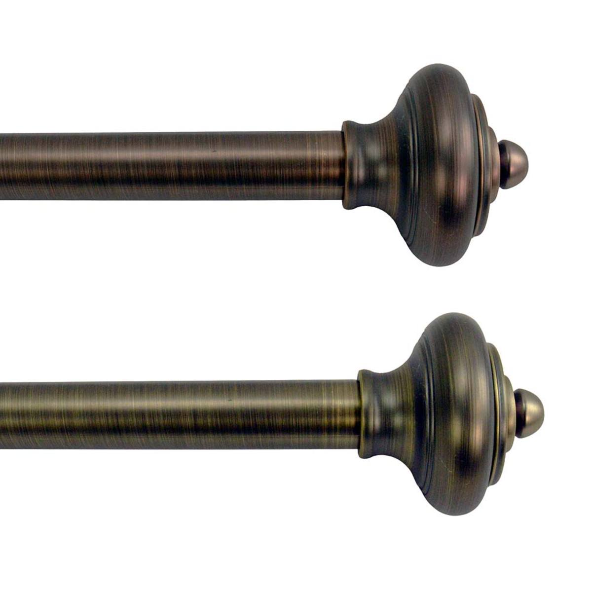 Lexington Adjustable Curtain Rod Collection with Royale Finial