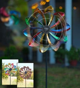 Solar LED Flower Wind Spinner