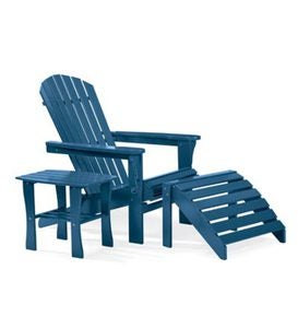 All-Weather Painted Hardwood Adirondack Folding Chair - BLUE