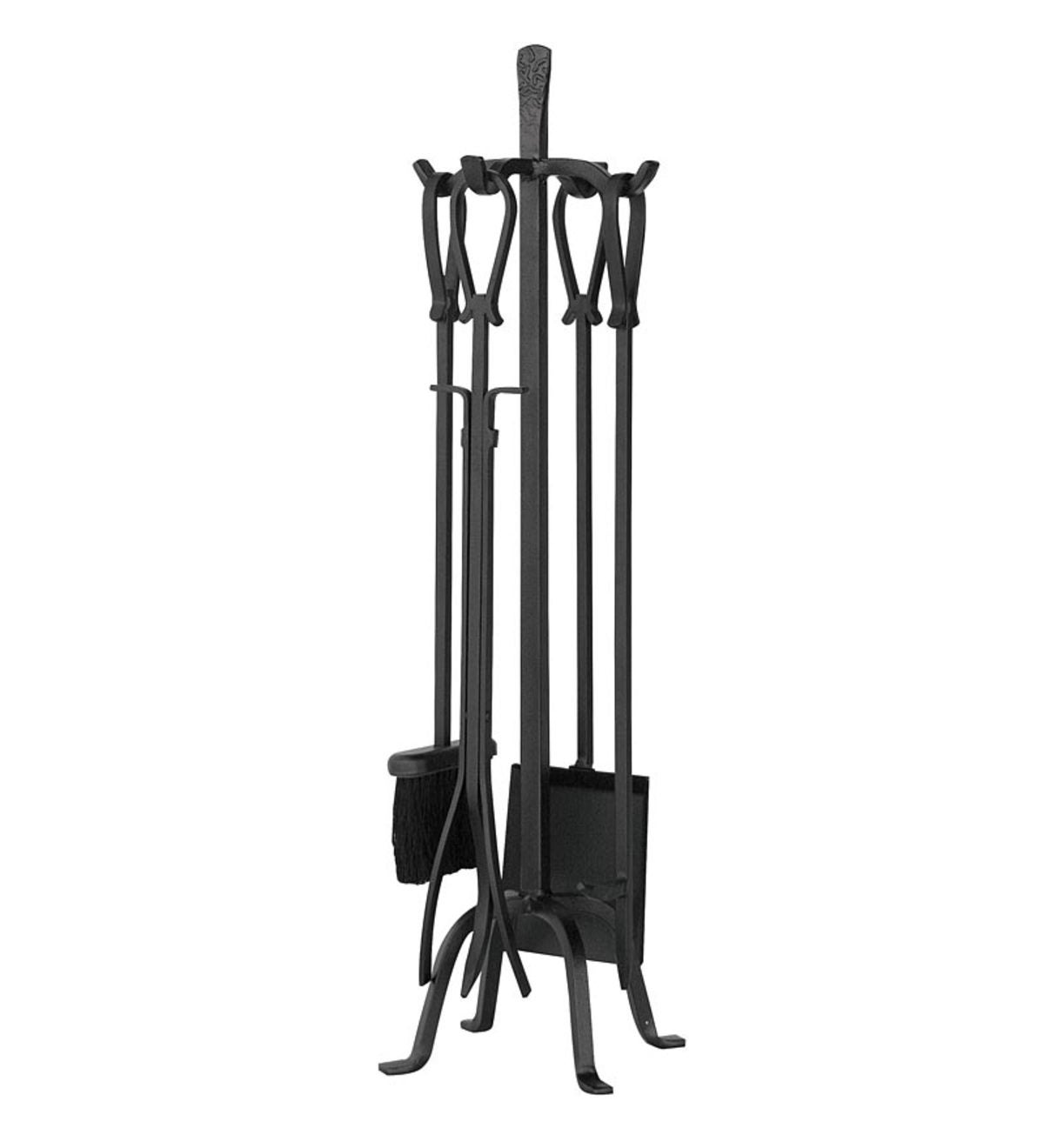 Olde World 5-Piece Fireplace Tool Set with Loop Handles - Iron