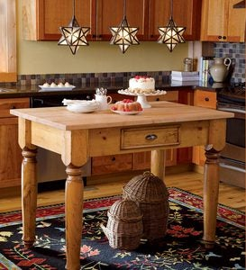 Solid Pine Freestanding Kitchen Island Made in USA