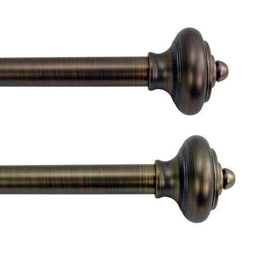 "Lexington Curtain Rod Set with Royale Finial, 86""W-144""W"