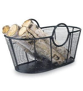 Small Steel Wire Log Basket