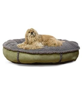 Large Faux Suede Dog Bed