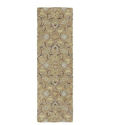 "Meadow Fern Wool Rug, 2'6""x 8'"
