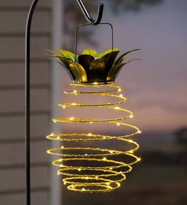 Hanging Solar Lantern Decoration, Pineapple