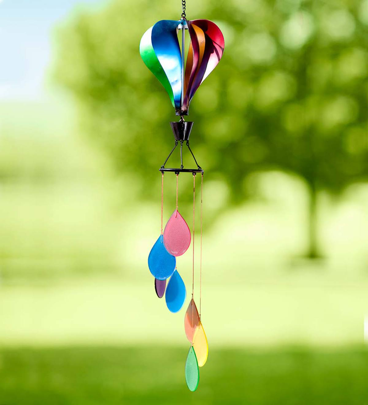 Hot Air Balloon Spinner And Wind Chime Plowhearth