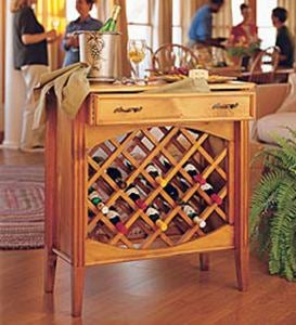 Shenandoah Valley Wine Cabinet