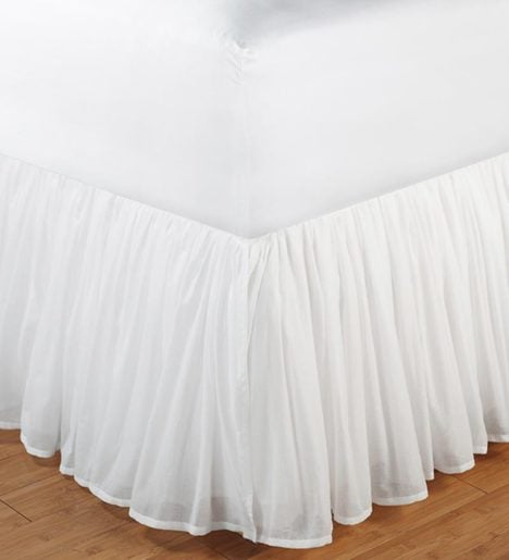 King Double Layered Cotton Voile Bed Skirt