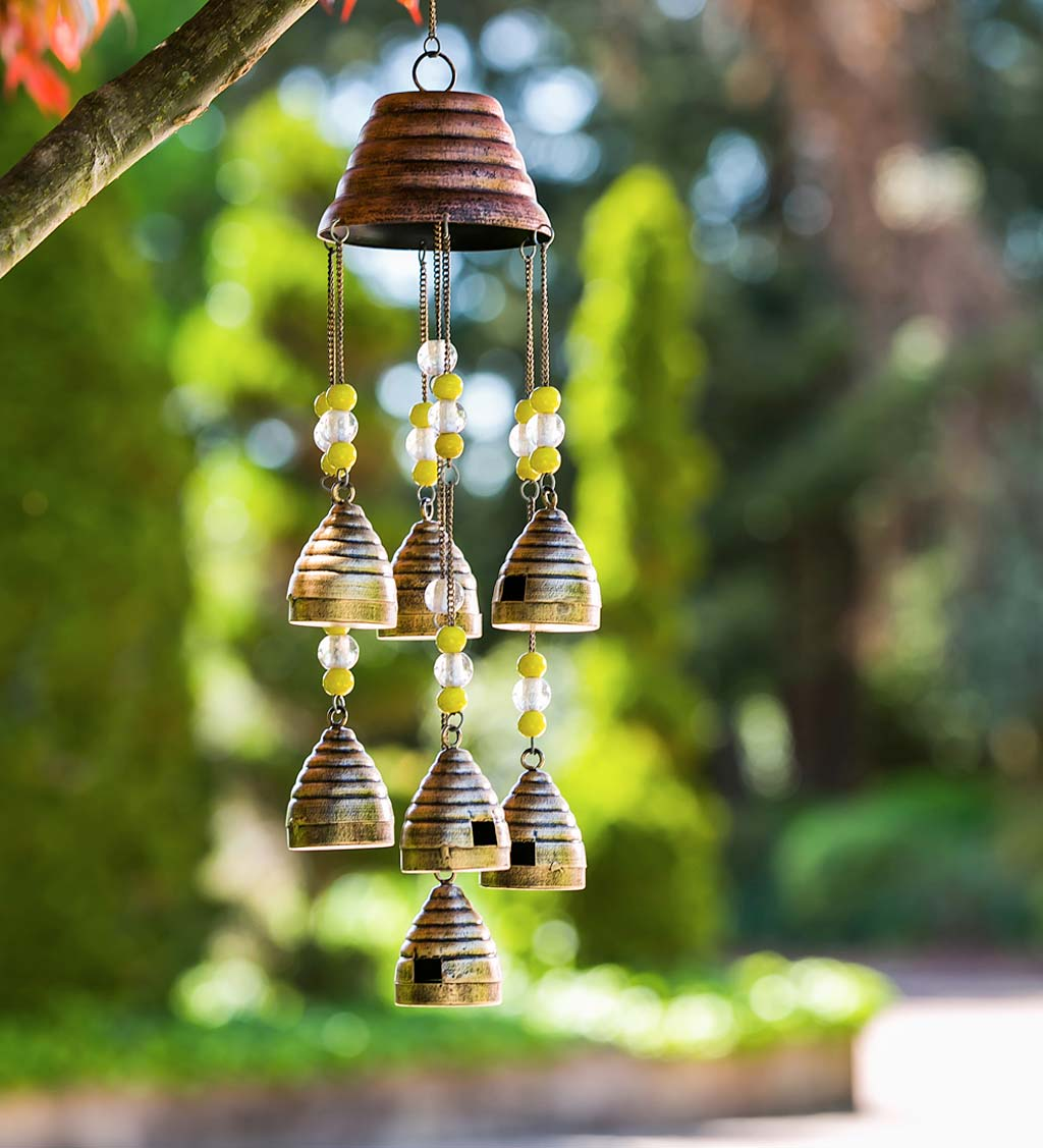 Beaded Beehives Wind Chime