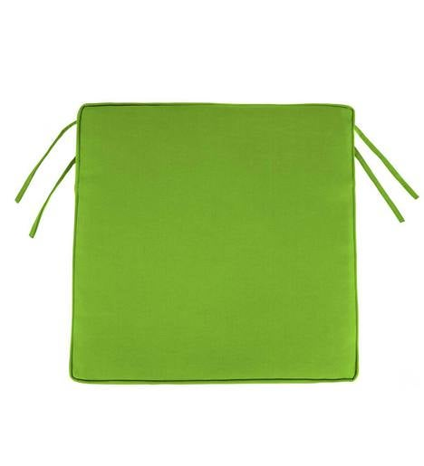 "Polyester Classic Chair Cushions With Ties, 19¾""x 17½""x 3"""