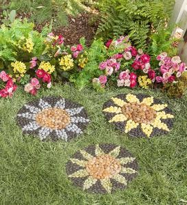 Sunflower Stepping Stones, Set of 3