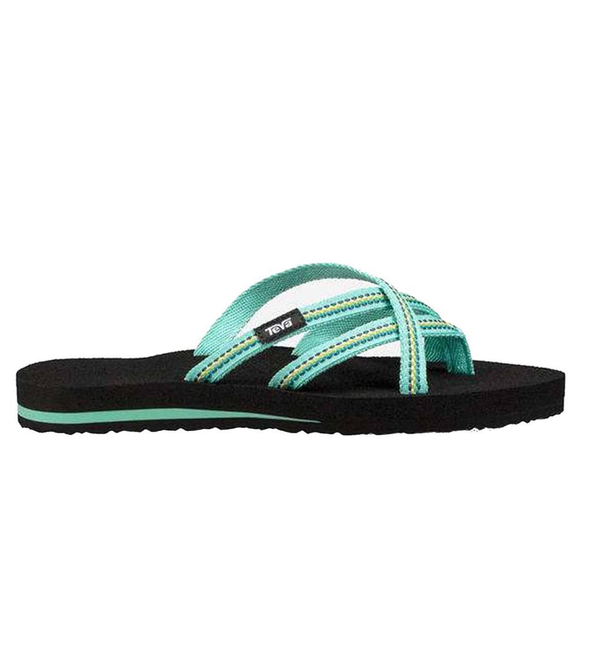 45e6ac7a3 Teva Women s Mush Olowahu Flip Flops - Sea Glass - Size 6