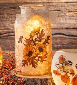 Sunflower Glass Jar Light