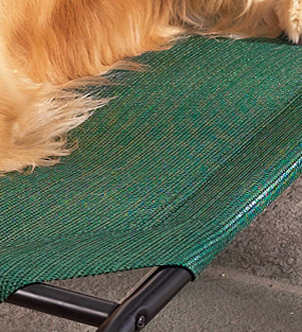 Small Weather-Resistant Raised Mesh Pet Bed Replacement Mesh Cover - Green