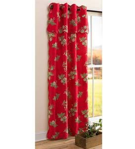"Peaceful Pine Quilted Window Curtain Panel, 44""W x 72""L"