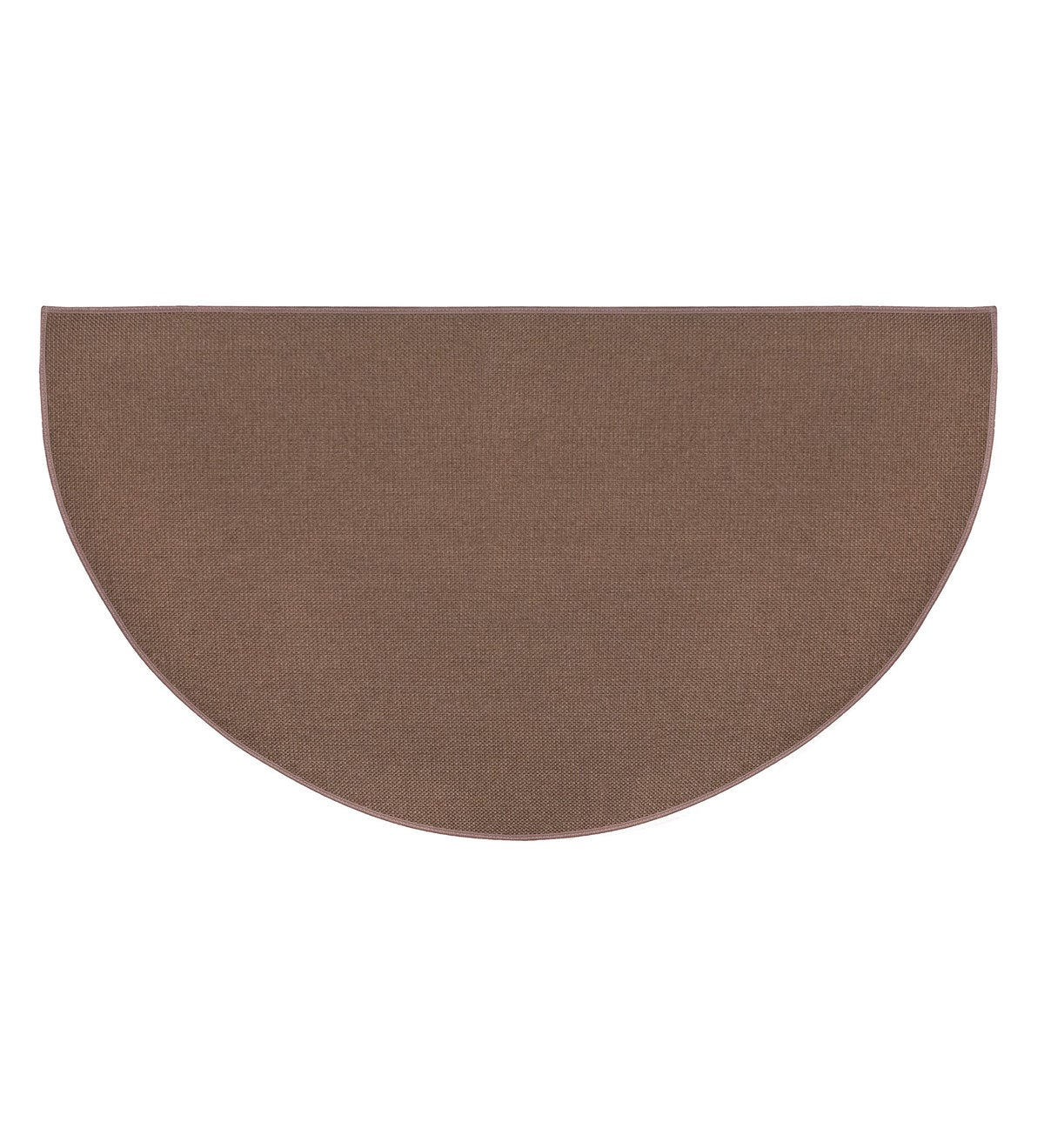 "Flame Resistant Fiberglass Half Round Hearth Rug, 27"" x 48"" - Brown"