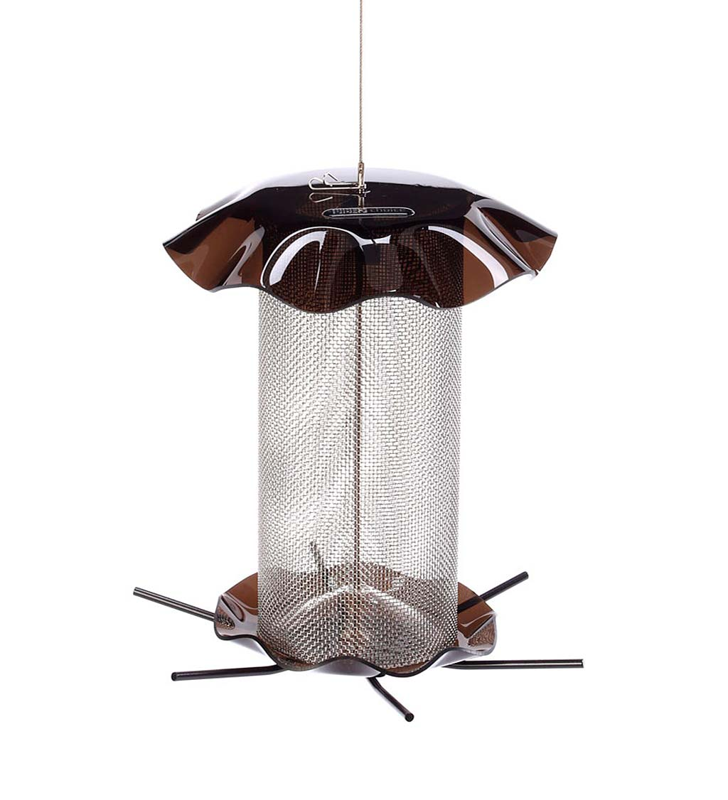 Acrylic and Stainless Steel Hanging Nyjer Bird Feeder