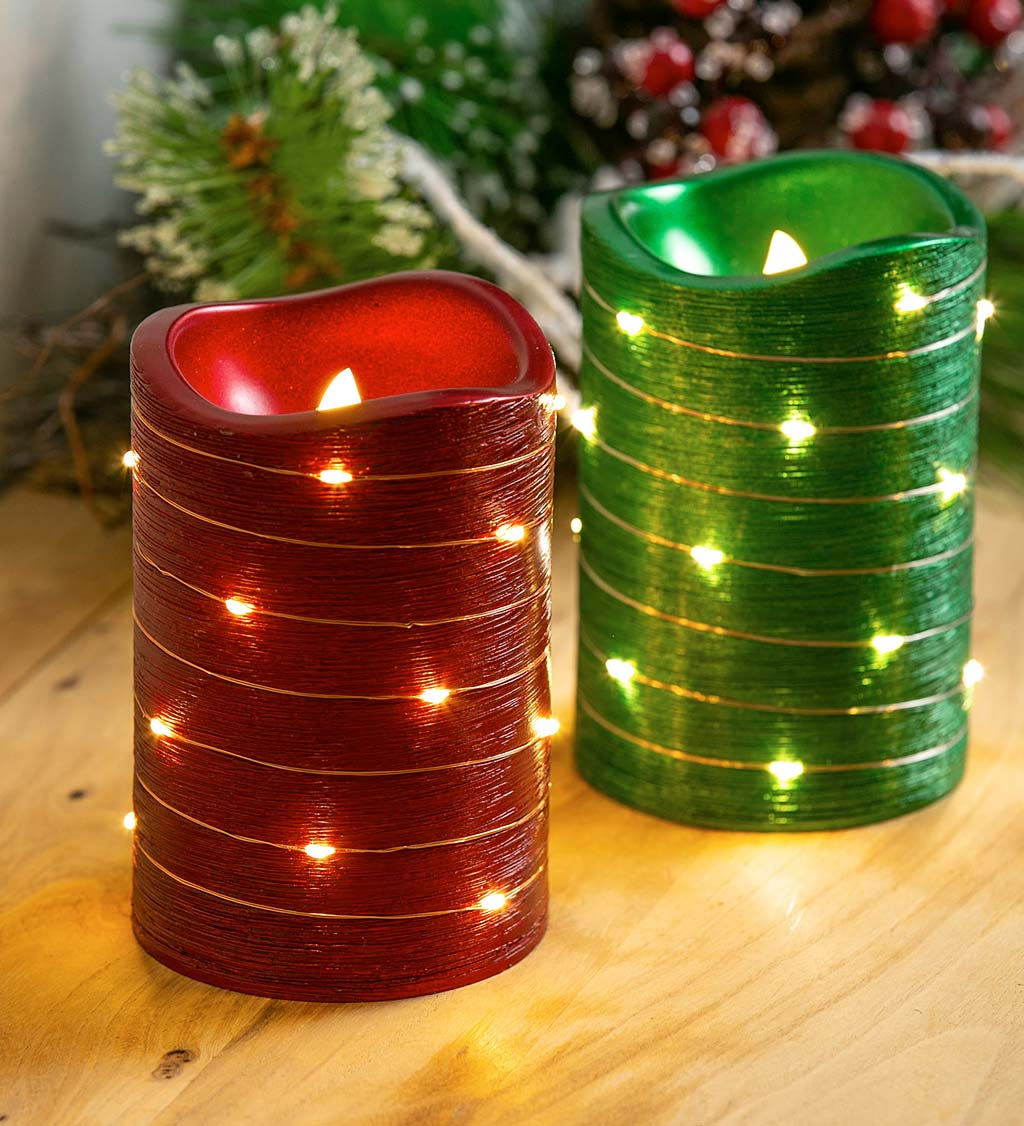 Christmas Gift Winter Candle Robin Christmas Decoration Red Robin LED Candle Pillar Candle Christmas Candle