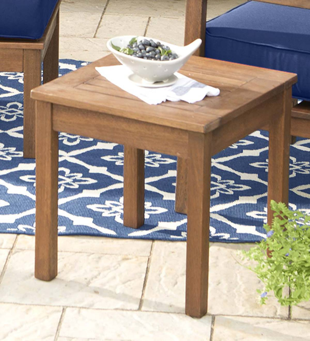 Eucalyptus Wood Side Table, Lancaster Outdoor Furniture