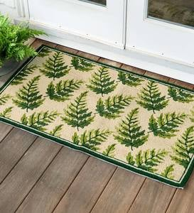 Indoor/Outdoor Fern Hooked Accent Rug