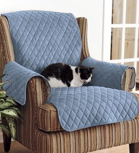 Personalized Polyester Pet Chair Protective Cover - Blue