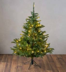 Pre-Lit Nordmann Fir Christmas Tree with 8-Function LEDs