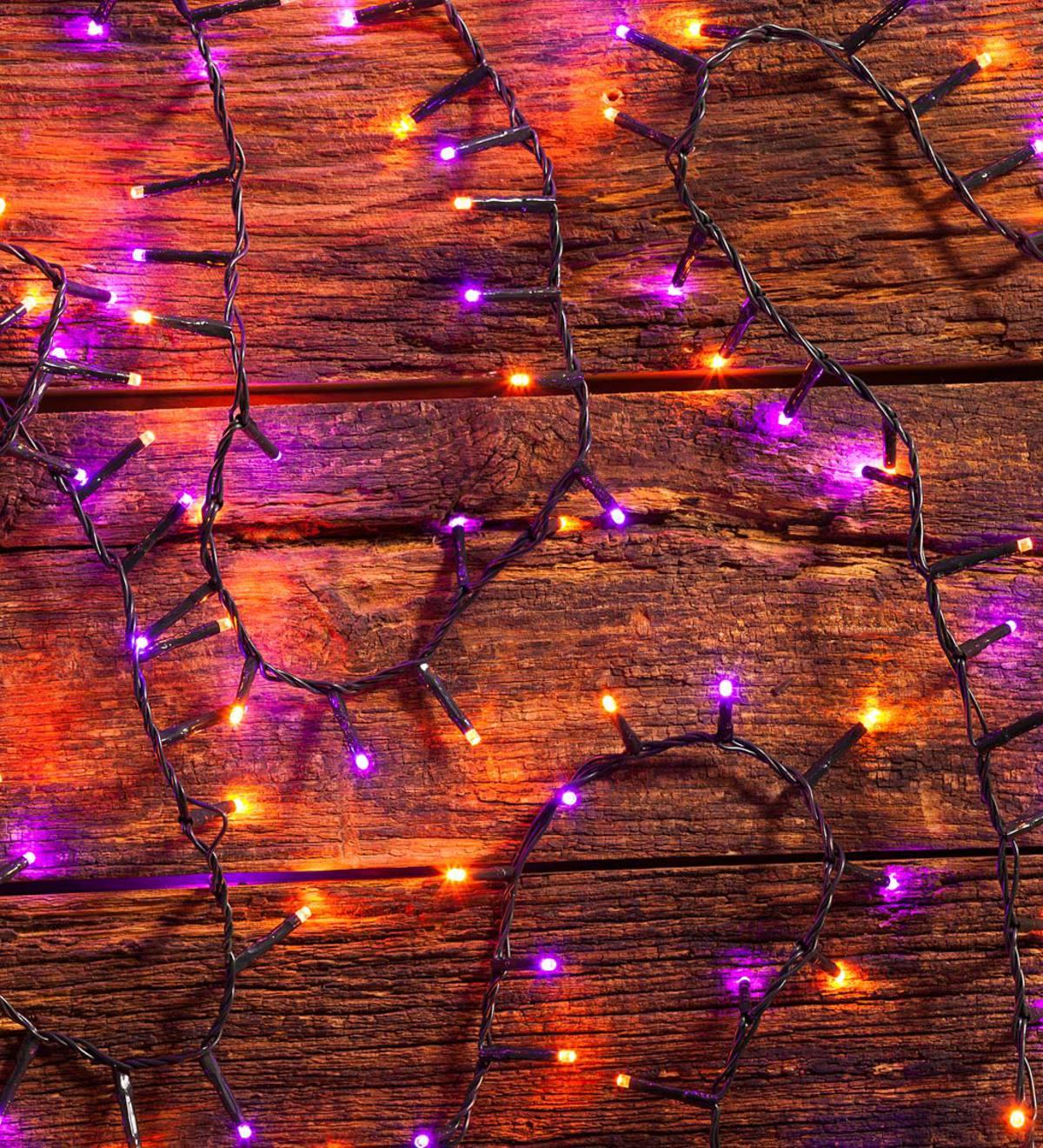 Halloween Purple And Orange String Lights 500 Leds Plowhearth