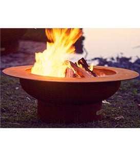 American-Made Firepit Art Saturn Fire Pit