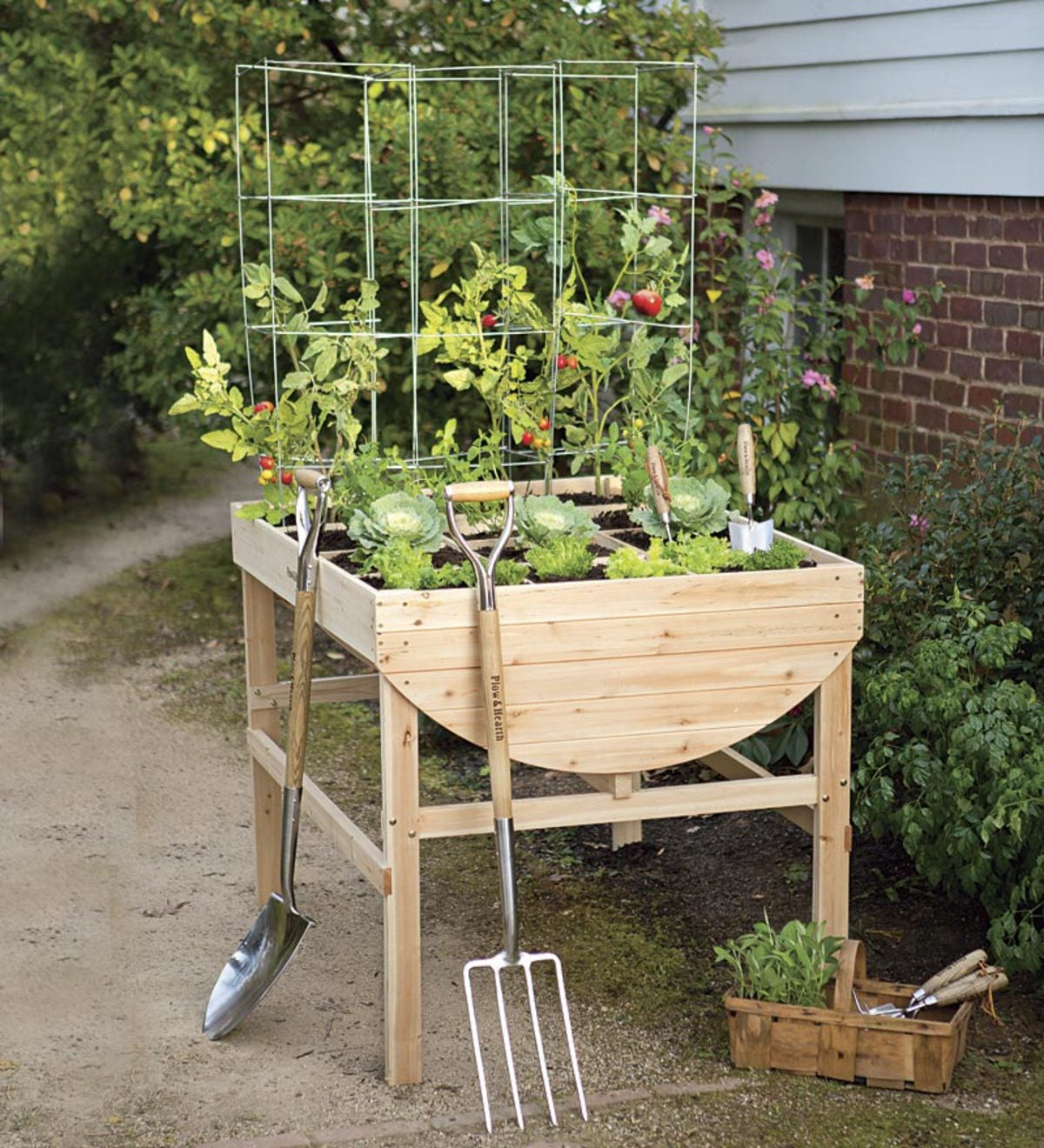 Solid Wood Raised Square Foot Garden Planter