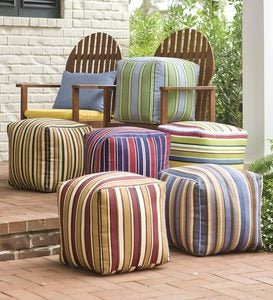 "15""x 15""Colorful Outdoor Ottoman Cubes With Eco-Friendly Recycled Polyfill"