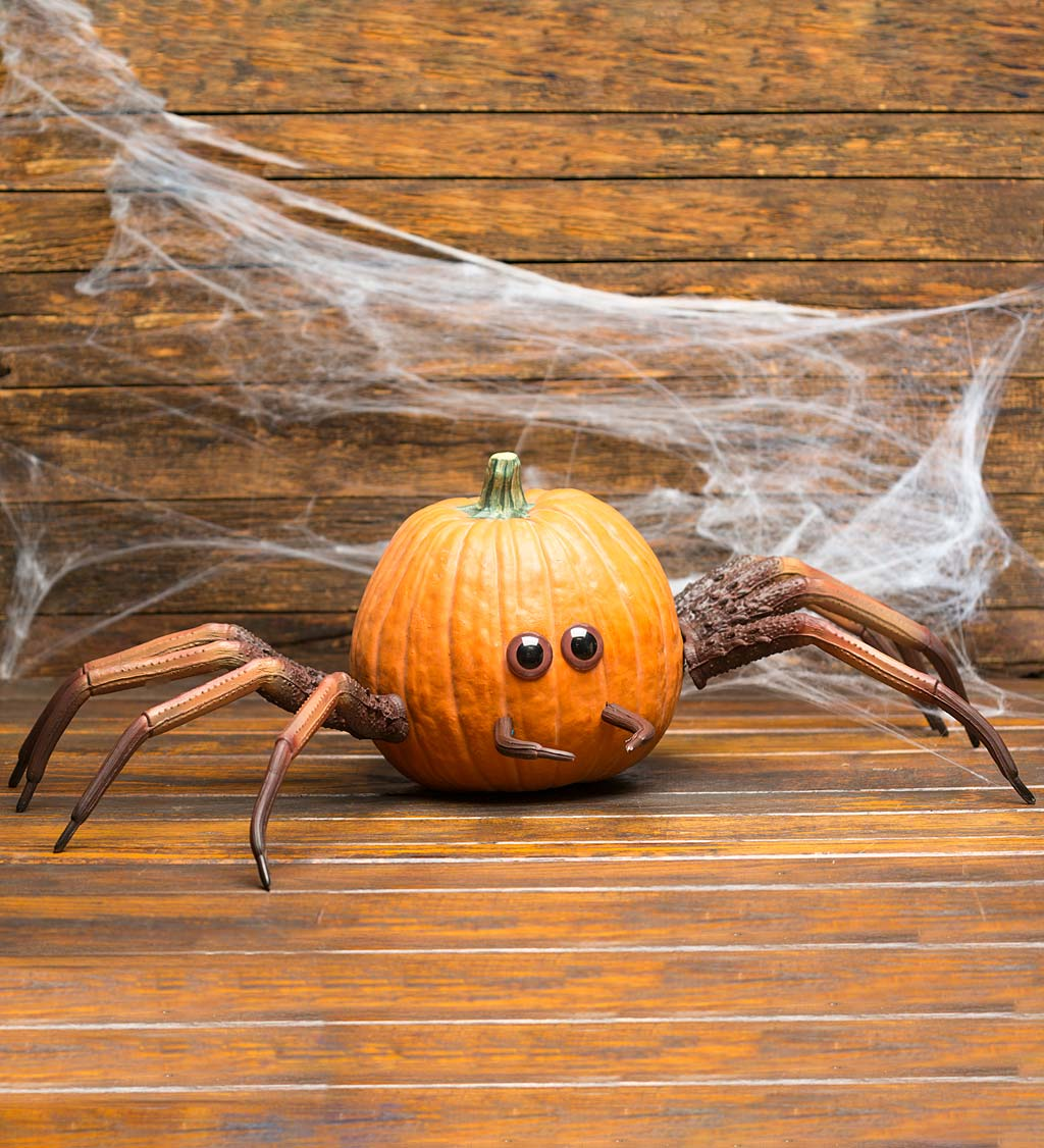 Halloween Spider Pumpkin Appendages, 6-Piece Set