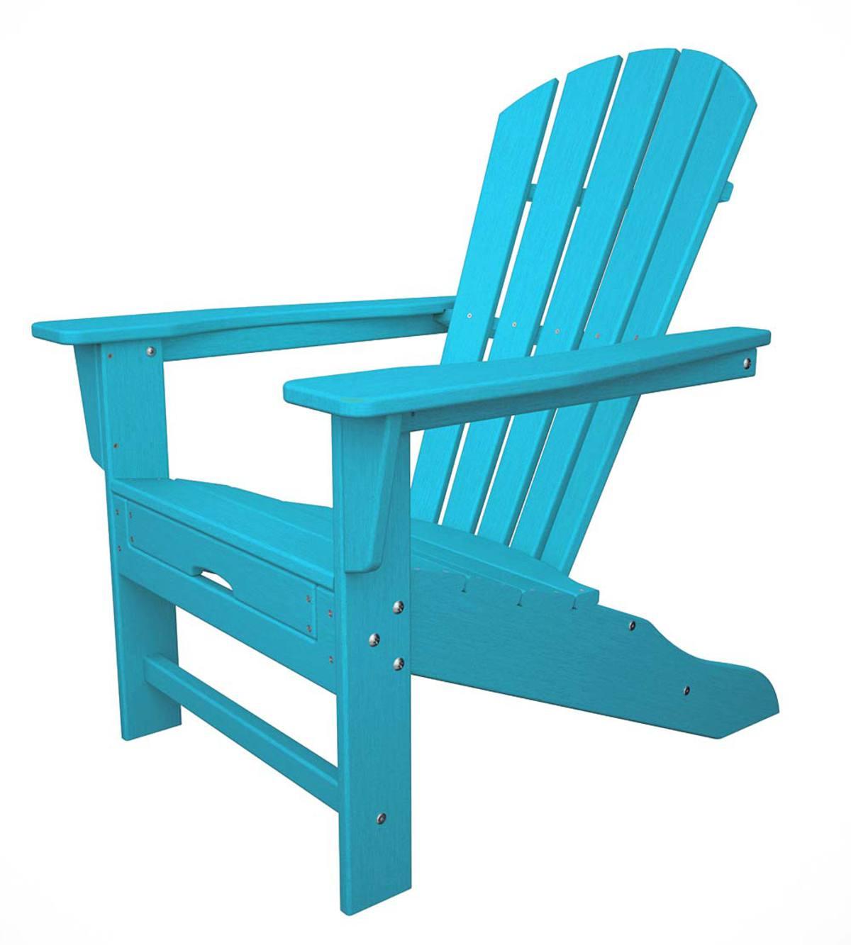 Polywood Adirondack Chair With Hideaway Ottoman Plowhearth