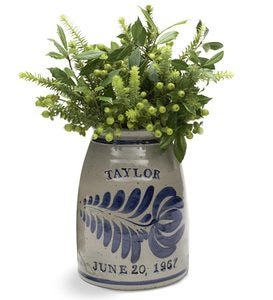 Personalized Stoneware Wedding Crock
