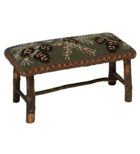 Pine Cone Upholstered Bench