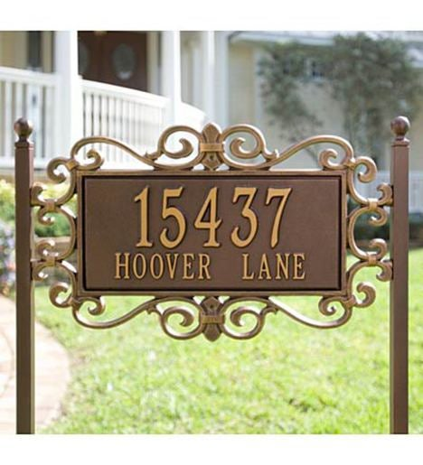 Mears Fretwork Lawn Plaque in Cast Aluminum