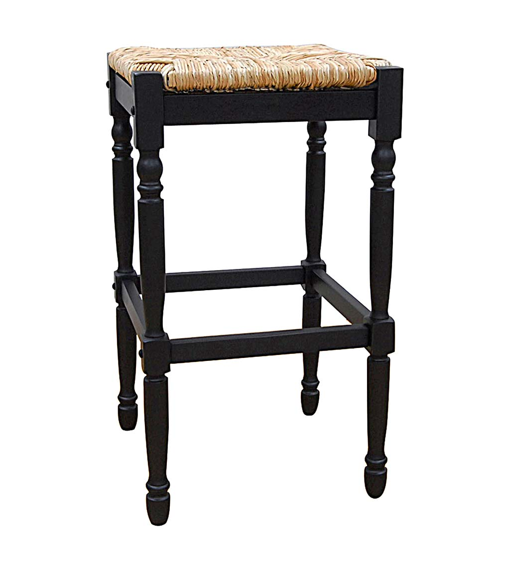 "29""-High Counter Stool with Handwoven Rush Seat swatch image"