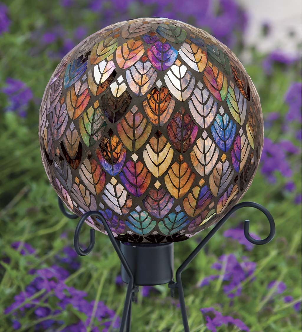 Baroque Splendor Glass Mosaic Gazing Ball Plowhearth