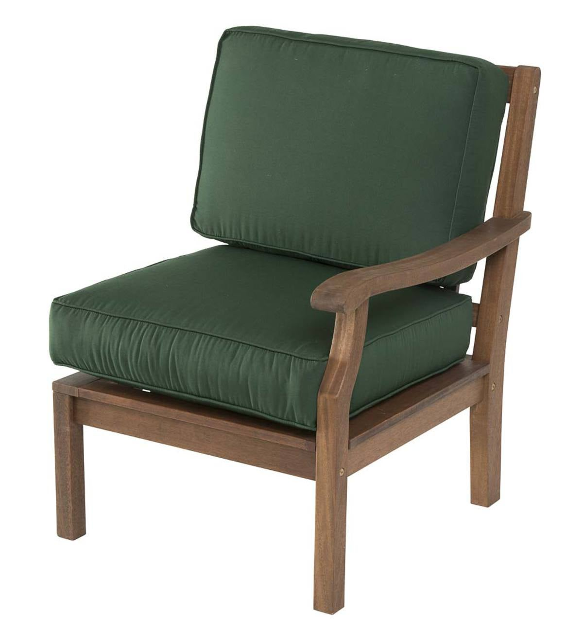 Claremont Sectional Chair with Left Arm with Cushions - Forest Green