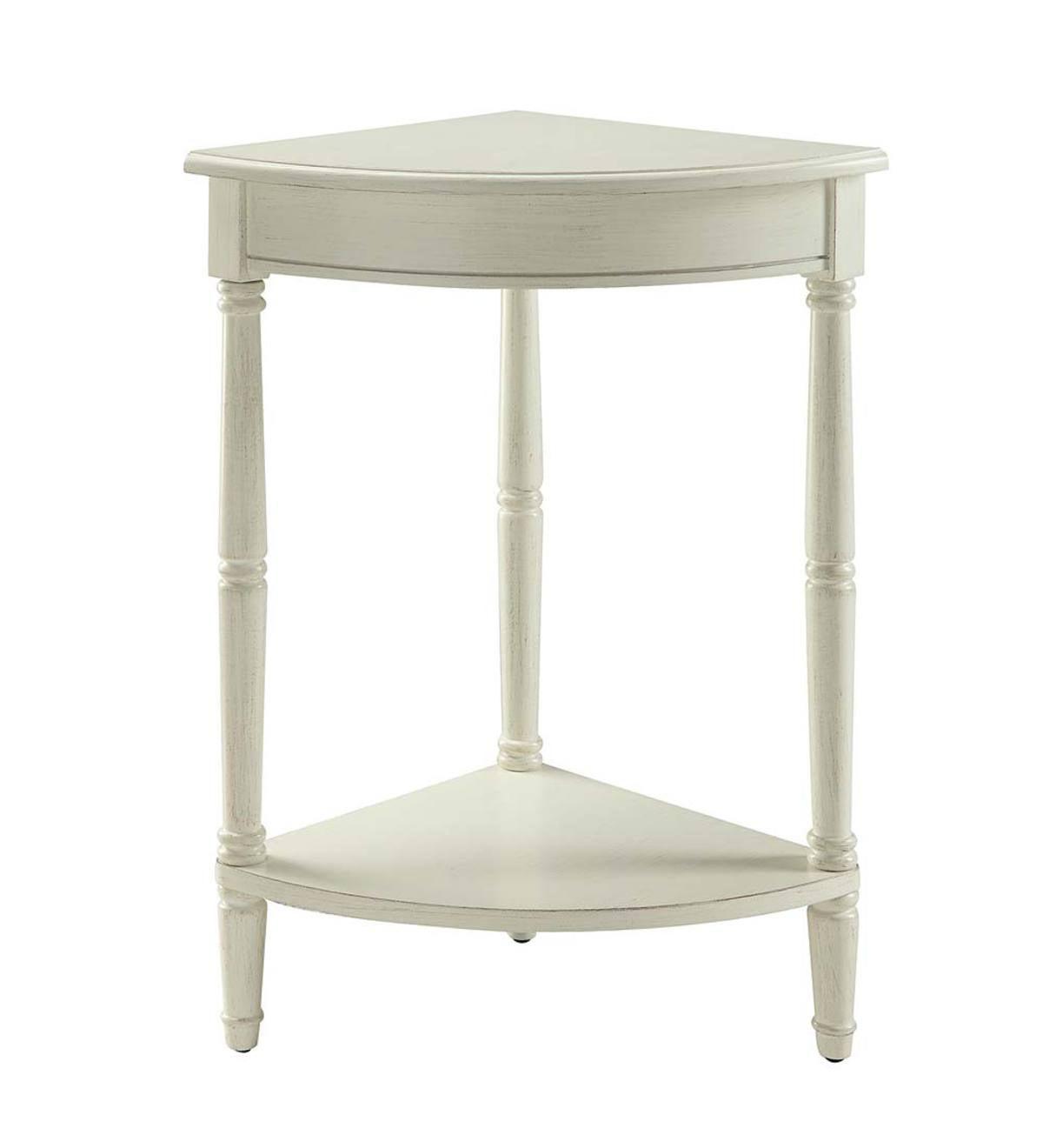 Corner Table/Plant Stand   Antique White