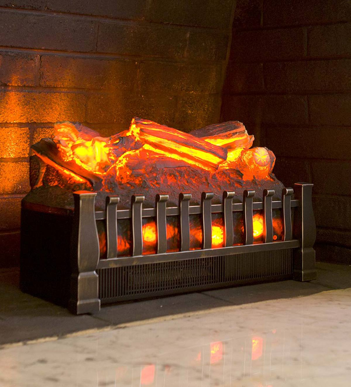 Electric Infrared Log Set with Oak Logs - Oak