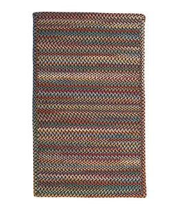 Blue Ridge Rectangle Wool Braided Rug, 3' x 5' - Black Multi
