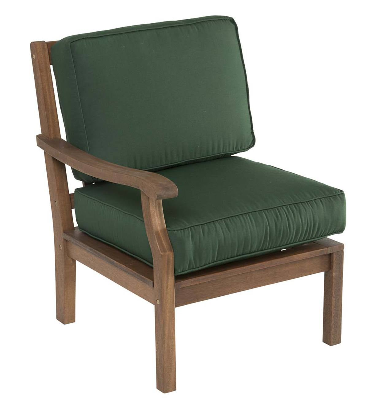 Claremont Sectional Chair with Right Arm with Cushions - Forest Green