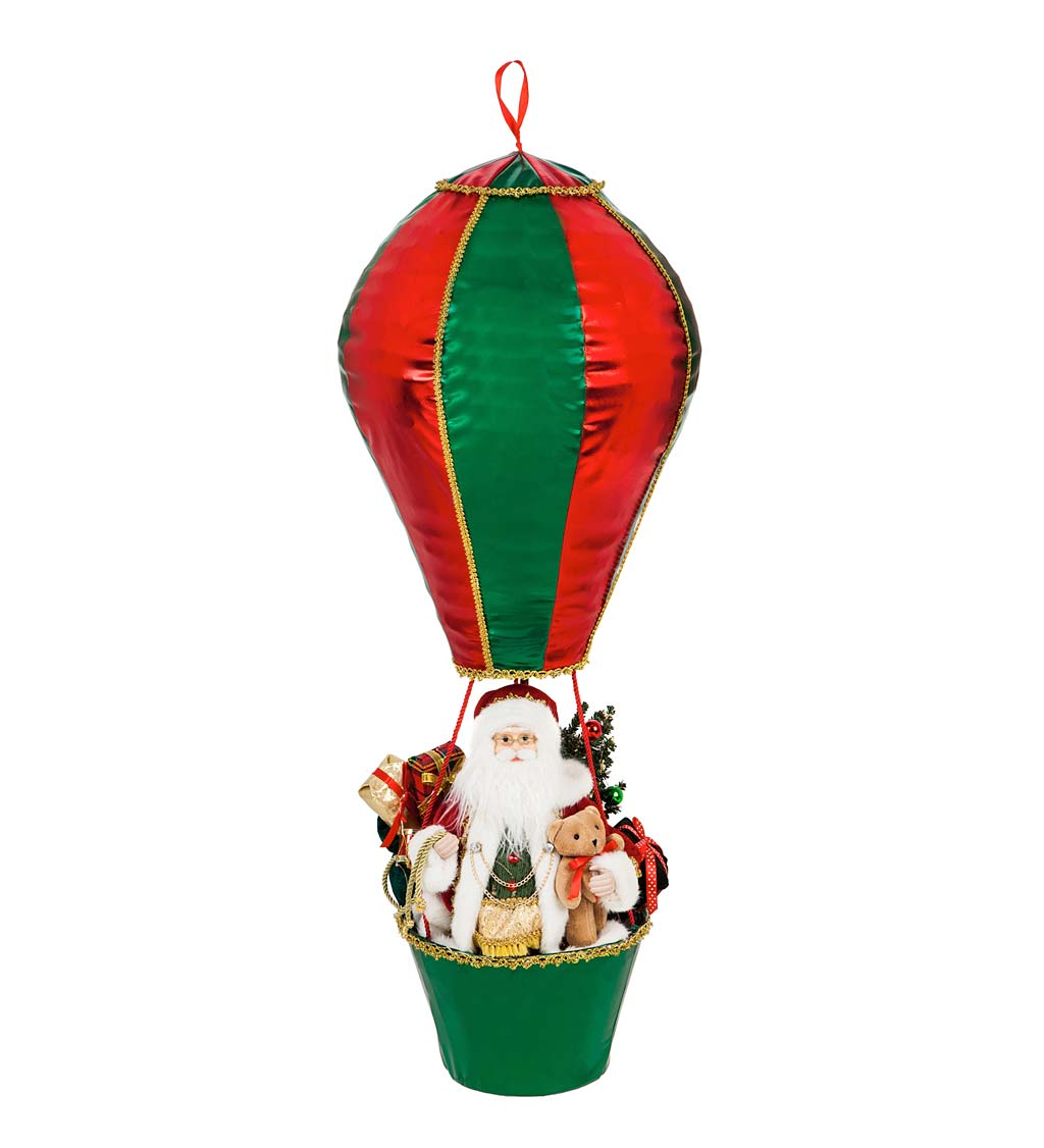 Large LED Musical Santa Claus's Special Delivery Hot Air Balloon
