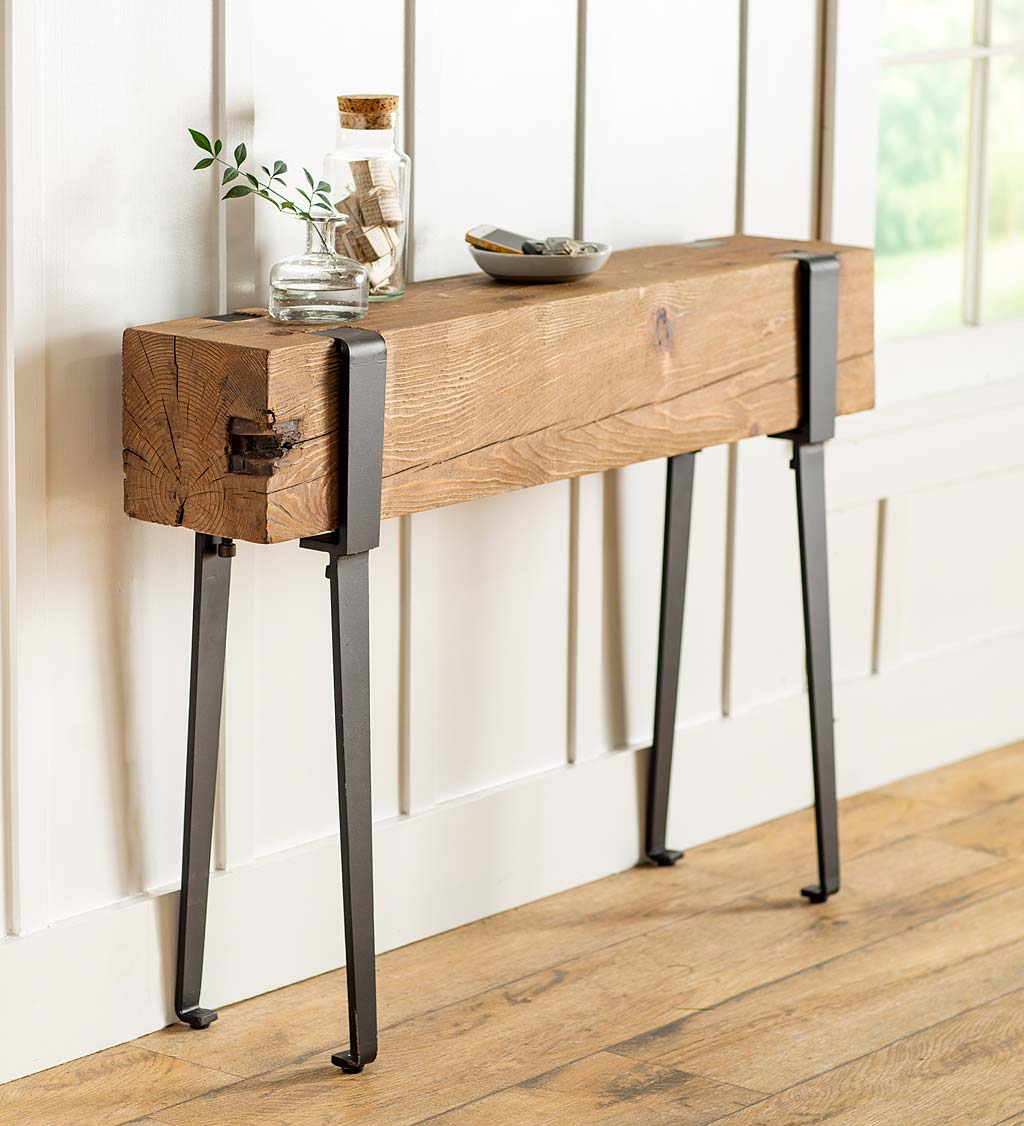 Youngstown Foundry Reclaimed Wood Console Table
