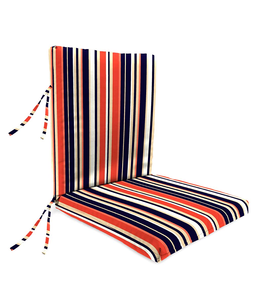 "Sale! Polyester Classic Large Club Chair Cushion With Ties, 44""x 22""with hinge 22""from bottom"
